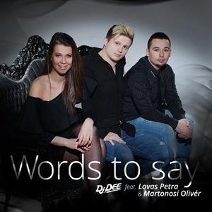 DJ DEE feat. LOVAS PETRA & MARTONOSI OLIVÉR - Words To Say